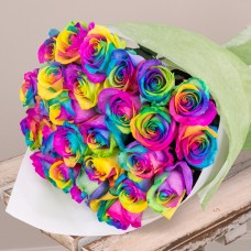 Two Dozen Rainbow Rose Bouquet